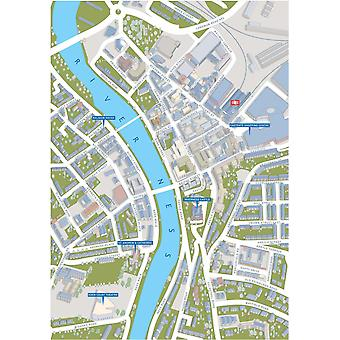 Inverness Street Map 1000 Piece Jigsaw Puzzle (jhg)