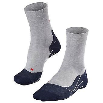 Falke funcionando 4 calcetines medianas - gris claro