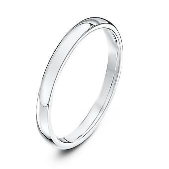 Star Wedding Rings 9ct White Gold Heavy Court Shape 2mm Wedding Ring