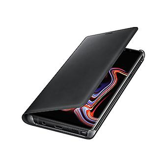 Samsung Galaxy Note 9 Leather weergave Cover-black