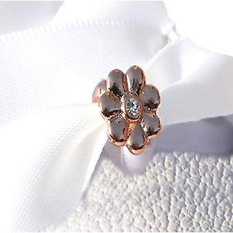 Rose Gold Flower Shoe Charm