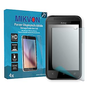 HTC Desire 200 Screen Protector - Mikvon Armor Screen Protector (Retail Package with accessories)