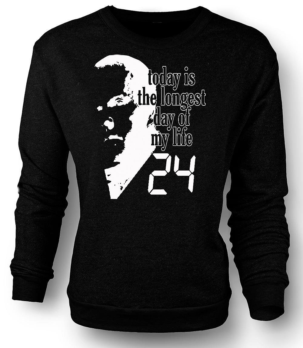 Mens Sweatshirt Jack Bauer - 24 Longest Day - Funny