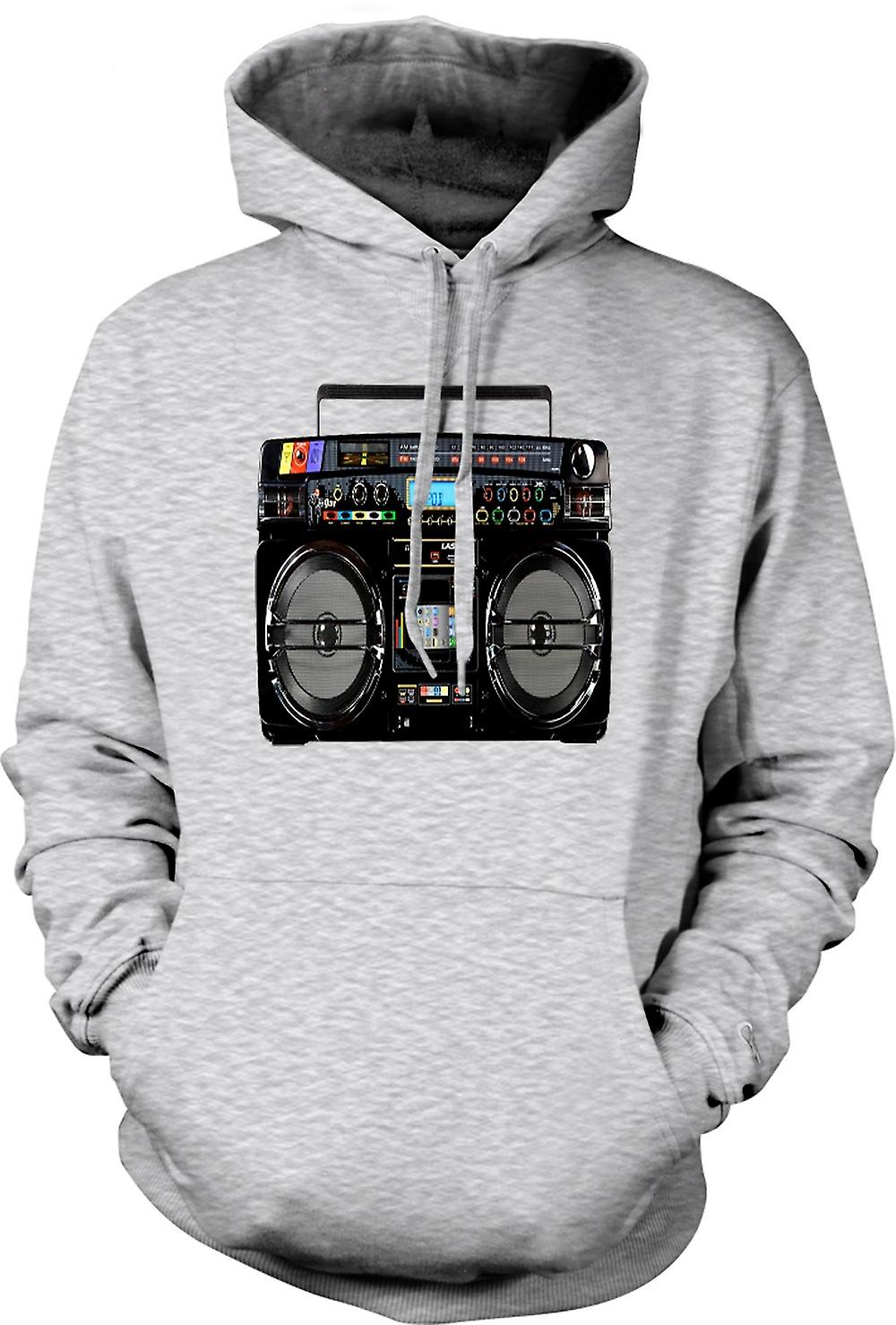 Mens Hoodie - iPod - Ghetto Boom Box