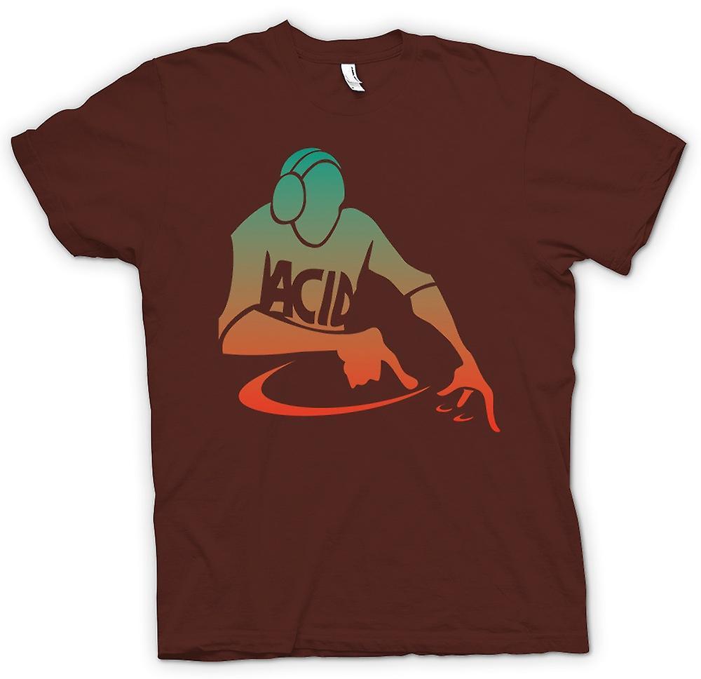 Mens T-shirt - DJ Mixing - Acid