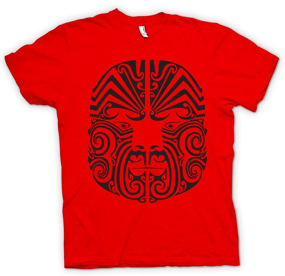 Mens t-shirt-Mauri Tribal Tattoo Design