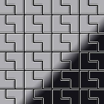 Metal mosaic Stainless Steel ALLOY Kink-S-S-MB
