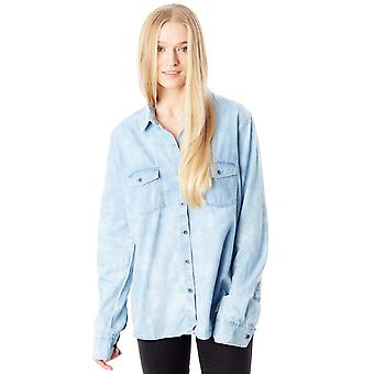 Volcom Washed Blue Coyote Spirit Womens Long Sleeved Shirt
