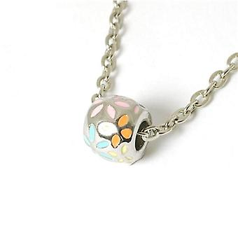 The Olivia Collection Enamel Pastel Flowers Bead On 18