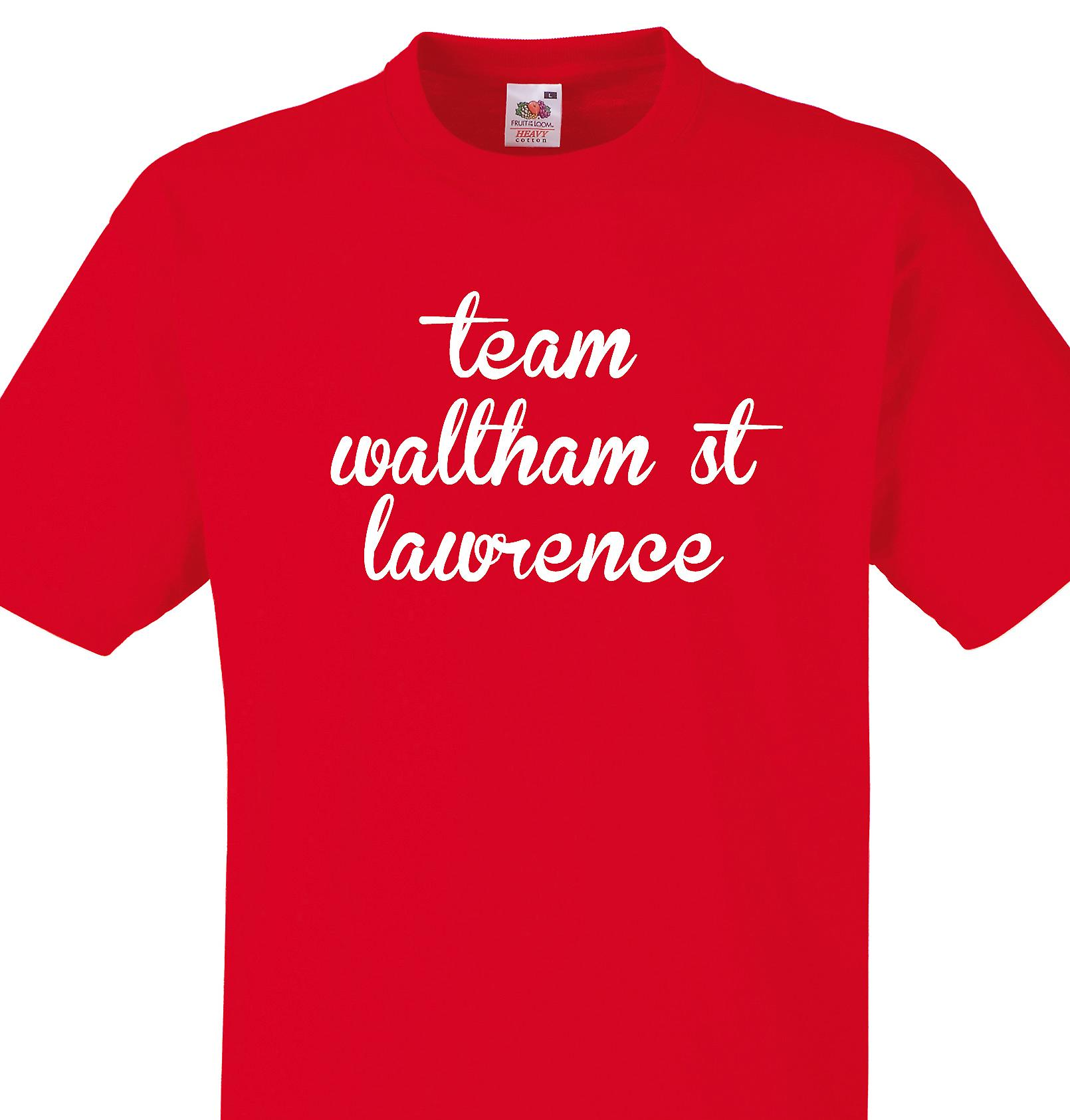 Team Waltham st lawrence Red T shirt