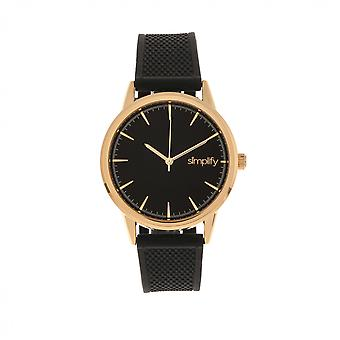 Simplify The 5200 Strap Watch - Rose Gold/Black