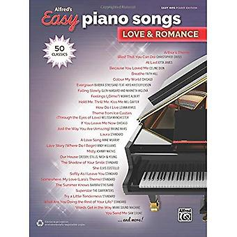 Alfred's Easy Piano Songs -- Love & Romance: 50 Classics