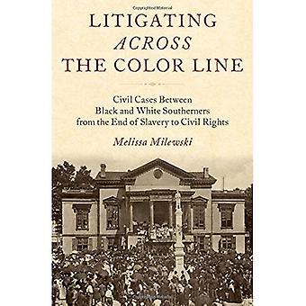 Processa hela raden färg: tvistemål mellan svarta och vita sydstatare från slutet av slaveriet till Civil Rights