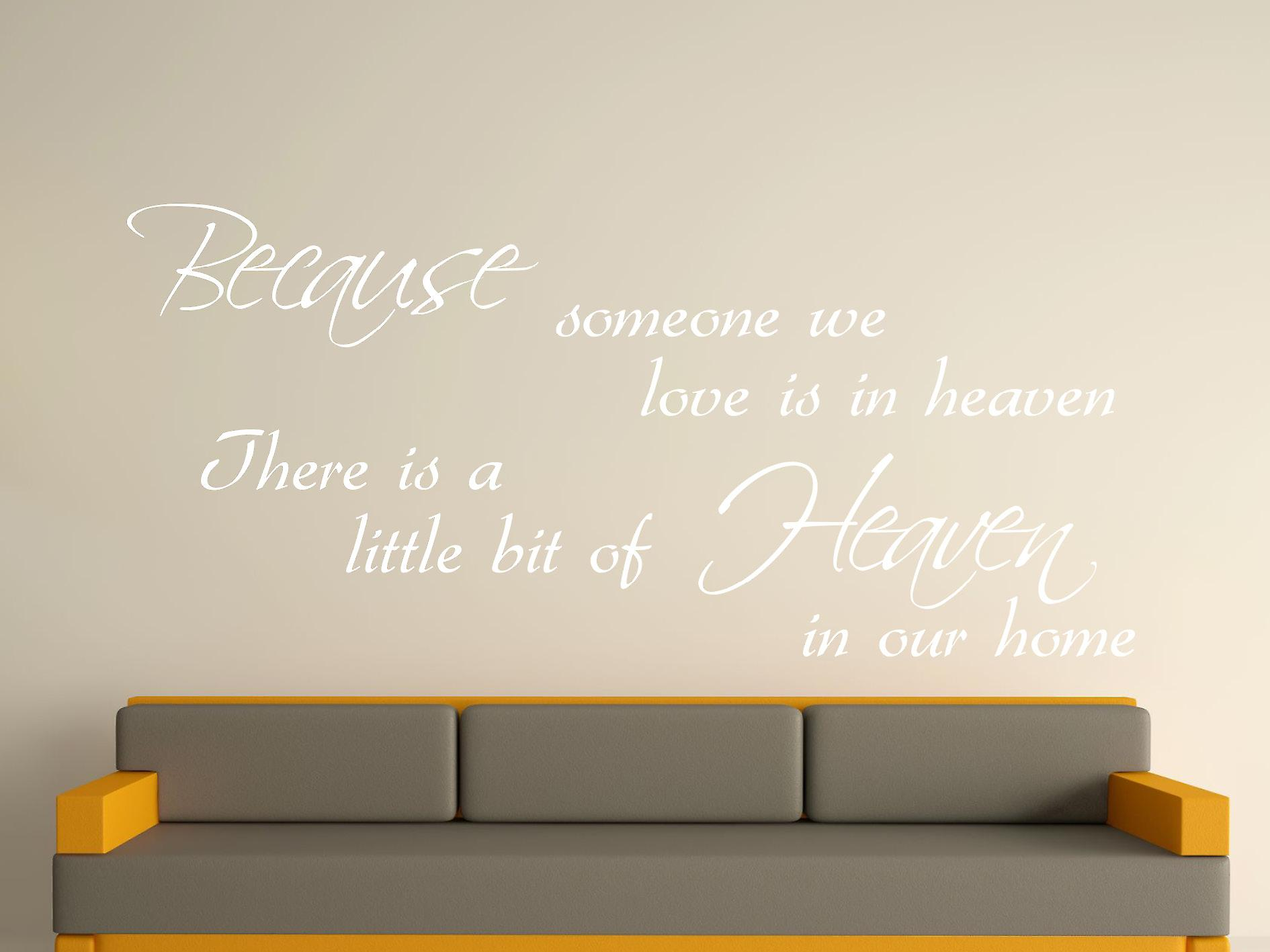 Because Someone Wall Art Sticker - White