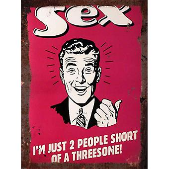 Vintage Metall Wall Sign - Sex-Version 2