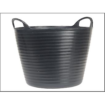 HEAVY-DUTY POLYETHYLENE FLEX TUB 28 LITER SCHWARZ