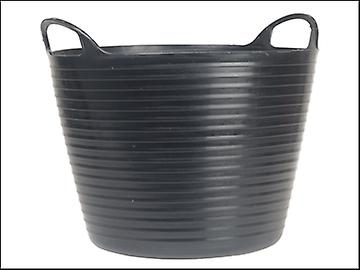 Faithfull Heavy-Duty Polyethylene Flex Tub 28 Litres Black