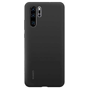 51992872 Case Schwarz für Huawei P30 Pro Original Silikon Cover Tasche Etui Schale Abdeckung