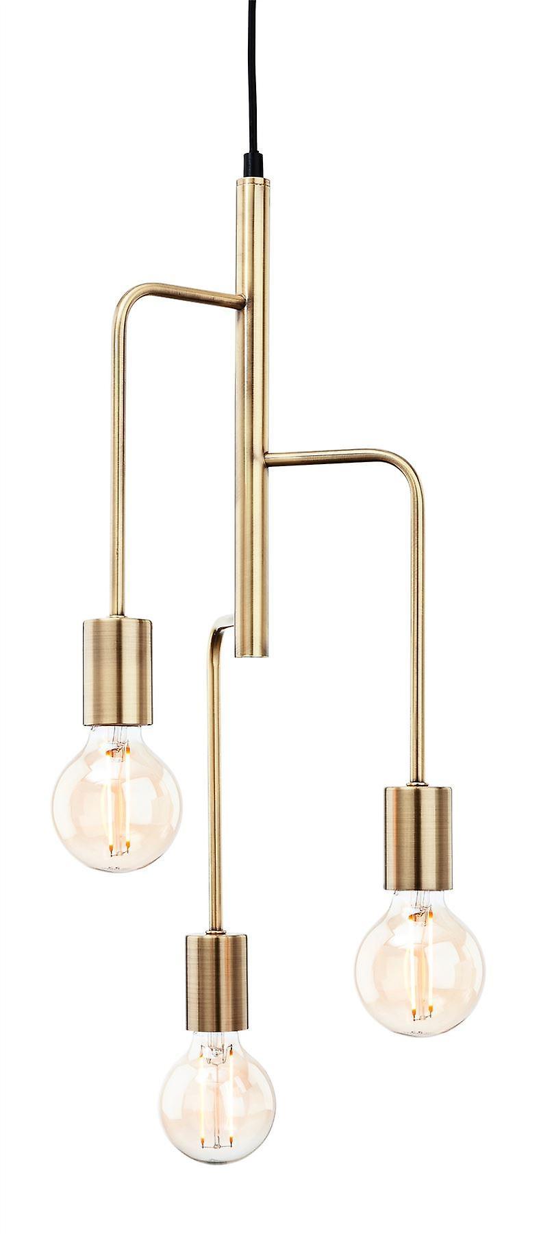 Firstlumière - 3 lumière Ceiling pendentif Antique Brass - 4866AB