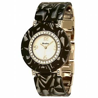 Henley Glamour Round Shaped Shell Design Ladies Fashion Watch H07076.2