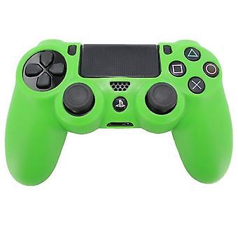 Housse de protection Silicone souple Pro Zedlabz avec poignée nervurée - PS4 vert