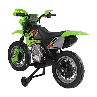 HOMCOM Qaba Kids Electric Motorbike Child Ride on Motorcycle 6V Battery Scooter (Green)