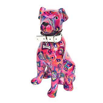 Piggy Bank dog Mylo Pink