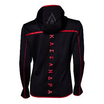 Assassins Creed Odyssey Technical Dark Women Hoodie Black/Red Large