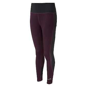 Ronhill Momentum Agile Womens Breathable & Sweat Wicking Running Tights Aubergine
