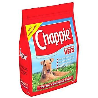 Chappie 3kg manzo & cereali di grano intero secco per cani cibo