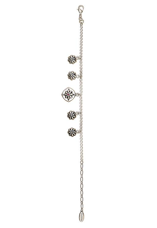 Pelgrim Damenarmband: pinwheel roze/zilver (506702)