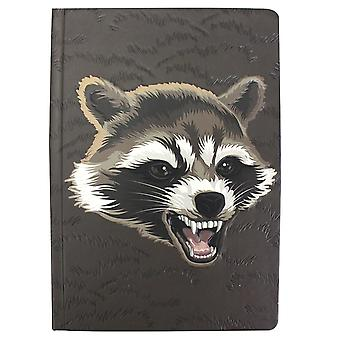 Guardians of the Galaxy Notebook Rocket Brown, A5 Hardcover, Bound, 240 pages lined.