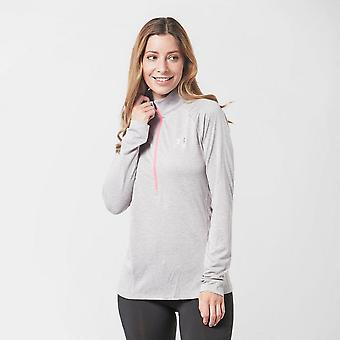 New Under Armour Women's Tech Twist Half Zip Top Grey
