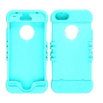 Unlimited Cellular Rocker Series Skin Case for iPhone 5S (Fluorescent Blueish Green)