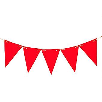 Gardenista® Red 20ft Water Resistant Fabric Bunting