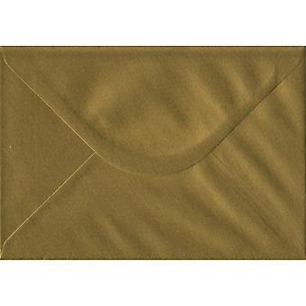 Goud gegomd C5/A5 gekleurde gouden enveloppen. 100gsm FSC duurzaam papier. 162 mm x 229 mm. bankier stijl envelop.