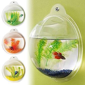 Burbuja de peces - pecera montado de pared de acrílico de lujo