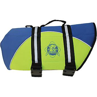Paws Aboard Neoprene Doggy Life Jacket Small-Blue & Yellow NEOS-B1300