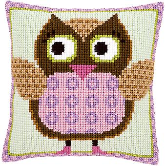 Miss Owl Cushion Cross Stitch Kit-15.75