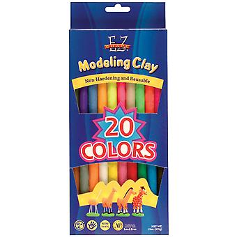Ez Shape Modeling Clay Non Hardening 13 Ounces Assorted Colors 20 Pkg Ndc20