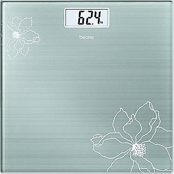 Digital bathroom scales Beurer Beurer Glaswaage GS 10 Weight range=180 kg Stainless steel