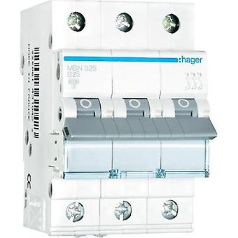 Circuit breaker 3-pin 25 A Hager MBN325