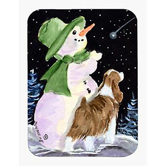 Pupazzo di neve con Springer Spaniel inglese Mouse Pad / Hot Pad / sottopentola
