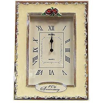 Clocks - 40th Anniversary Ruby Wedding Celebration Quartz Table Clock-37240