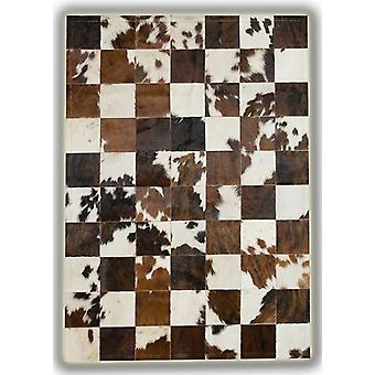 Rugs - Patchwork Leather Cubed Cowhide - Normandy Cow 3 colours