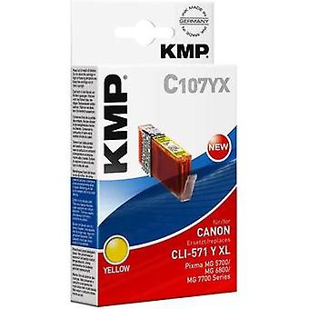 KMP Ink replaced Canon CLI-571Y XL Compatible Yellow 1569,0009