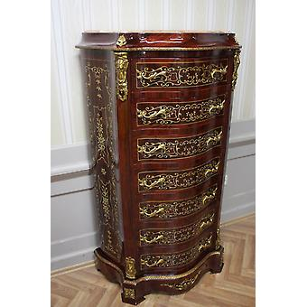 Chest of drawers baroque cabinet Louis xv antique style MkSm0036Bg2