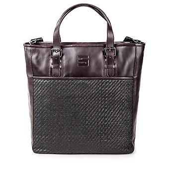 Cinque leather of shopper shopping bag market bag bag dark brown