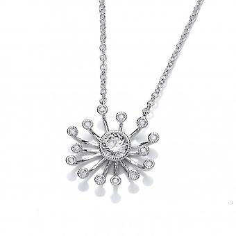 Cavendish French Silver and Cubic Zirconia Starburst Necklace