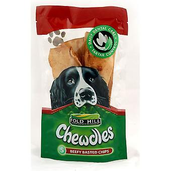 Chewdles Chips velnæret smurte 5pk (pakke med 5 stk.)